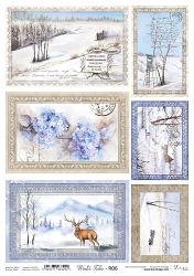 Lexi Design - Winter tales Rice Paper #6