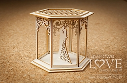 Laserowe Love Chipboard - Bower with a couple 3D - Flower