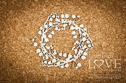 Laserowe Love Chipboard - Wreath with lilies of the valley - First Love