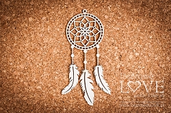 Laserowe Love Chipboard - Dreamcatcher Apanaczi Indiana