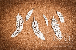 Laserowe Love Chipboard - Malini Indiana feathers