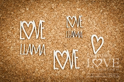 Laserowe Love Chipboard - Text Love Llama