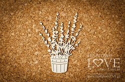 Laserowe Love Chipboard - Pot with lavender - Sweet Lavender