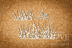 Laserowe Love Chipboard - Lavender flowers - Sweet Lavender