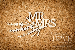Laserowe Love Chipboard - MR MRS - Sweet Lavender