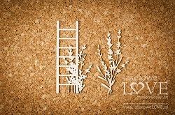 Laserowe Love Chipboard - Ladder - Sweet Lavender