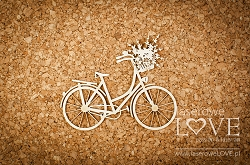 Laserowe Love Chipboard - Retro bicycle - Sweet Lavender
