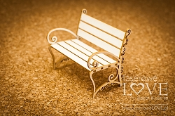 Laserowe Love Chipboard - Bench 3D - Sweet lavender