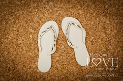 Laserowe Love Chipboard - Flip flops - Vintage Tropical Island