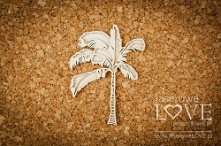 Laserowe Love Chipboard - Layered palm tree - Vintage Tropical Island