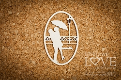 Laserowe Love Chipboard - Couple under an umbrella - Wedding Day