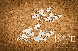 Laserowe Love Chipboard - Cherry branch - Wedding Day