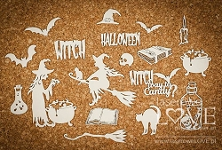 Laserowe Love Chipboard - The Witch's Spell - Halloween Time