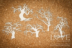 Laserowe Love Chipboard - Scary trees - Halloween Time