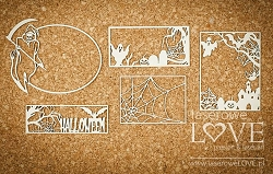 Laserowe Love Chipboard - Frames with ghosts - Halloween Time
