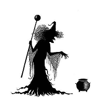 Lavinia Stamps - Clear Stamp - Willow the Witch