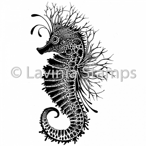 Lavinia Stamps - Clear Stamp - Sebastian the Seahorse