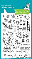 Lawn Fawn - Clear Stamps - Cheery Christmas