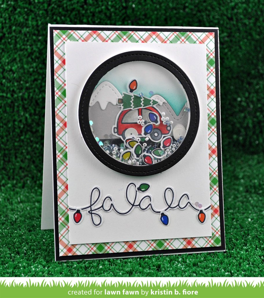 Lawn Fawn Clear Stamp Winter Big Scripty Words
