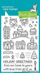 Lawn Fawn - Clear Stamps - Winter Village