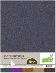 Lawn Fawn - 8.5x11 specialty paper - Sparkle Autumn