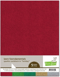 Lawn Fawn - 8.5x11 specialty paper - Sparkle Holiday