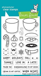 Lawn Fawn - Clear Stamps - Thanks A Latte