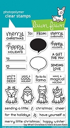 Lawn Fawn - Clear Stamps - Say What? Christmas Critters