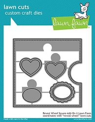 Lawn Fawn - Die - Reveal Wheel Square Add-On
