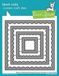 Lawn Fawn - Die - Reverse Stitched Scalloped Square Windows