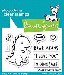 Lawn Fawn - Clear Stamps - Rawr