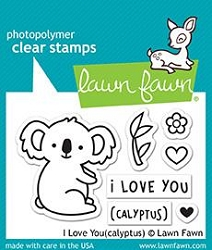Lawn Fawn - Clear Stamps - I Love You (Calyptus)