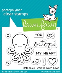 Lawn Fawn - Clear Stamps - Octopi My Heart