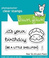 Lawn Fawn - Clear Stamps - Year Six