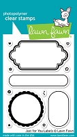 Lawn Fawn - Clear Stamps - Just For You Labels