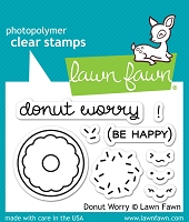 Lawn Fawn - Clear Stamps - Donut Worry
