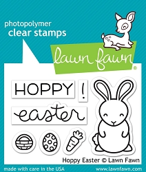 Lawn Fawn - Clear Stamps - Hoppy Easter