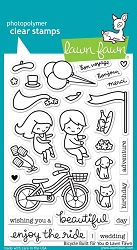 Lawn Fawn - Clear Stamps - Bicycle Built For You