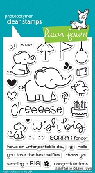 Lawn Fawn - Clear Stamps - Elphie Selfie