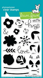 Lawn Fawn - Clear Stamps - Fab Flowers