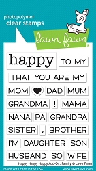 Lawn Fawn - Clear Stamps - Happy Happy Happy Add-On: Family
