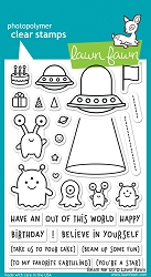 Lawn Fawn - Clear Stamps - Beam Me Up