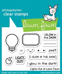 Lawn Fawn - Clear Stamps - Lights Out