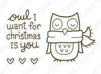 Lawn Fawn - Clear Stamps - Winter Owl