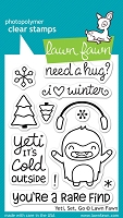 Lawn Fawn - Clear Stamps - Yeti, Set, Go