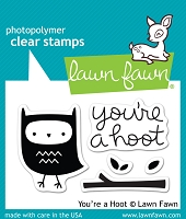 Lawn Fawn - Clear Stamps - You're A Hoot