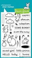 Lawn Fawn - Clear Stamps - Hello Baby