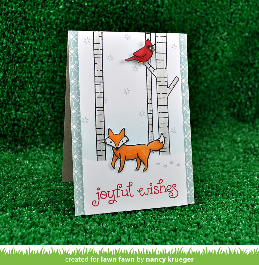 """Lawn Fawn Clear Stamps 4/""""x6/""""-into The Woods"""