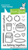 Lawn Fawn - Clear Stamps - Milk and Cookies