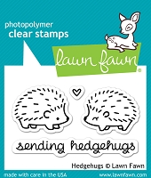 Lawn Fawn - Clear Stamps - Hedgehugs